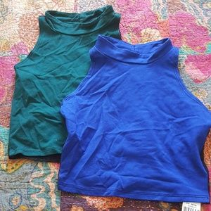 Two NWT LF Crop Tops.